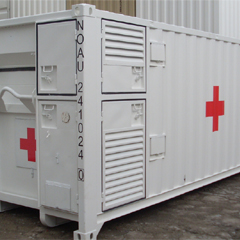 Medical Shelter with Integrated Hooklift