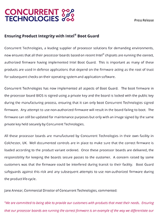 Ensuring Product Integrity with