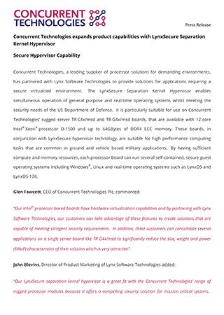 Secure Hypervisor Capability