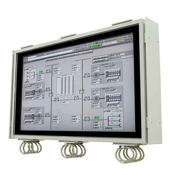 Large screen rugged panel computers and displays