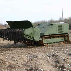 Remote Controlled Mine Clearing System