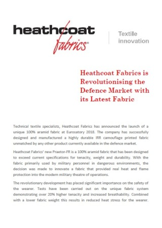 Heathcoat Fabrics is Revolutionising the Defence Market