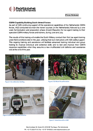CBRN Capability Building Dutch Armed Forces
