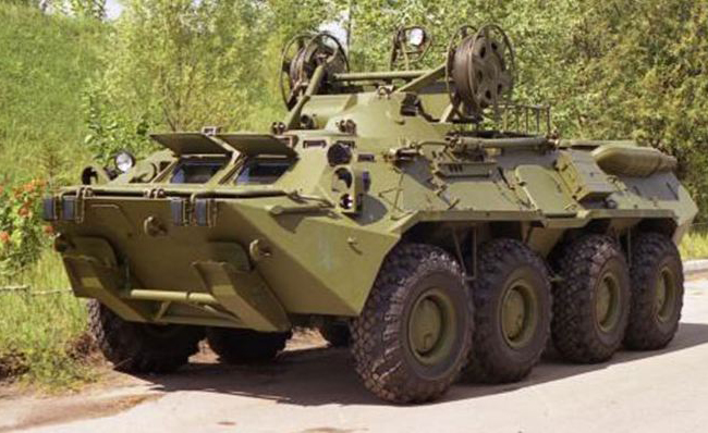 BREM-K Wheeled Amphibious Armoured Recovery Vehicles