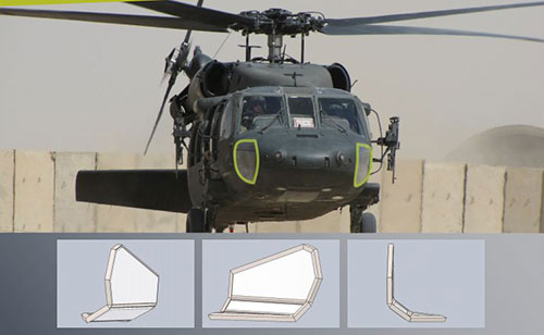 Ultralight ballistic windows for helicopters