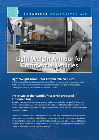 Light Weight Armour for Commercial Vehicles