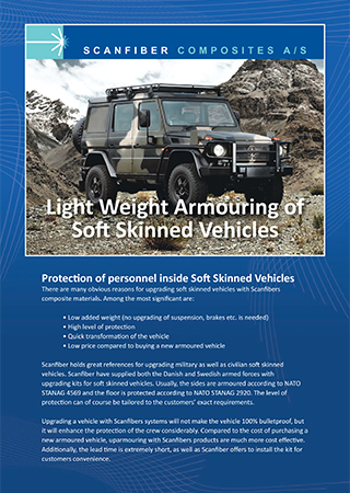 Light Weight Armouring Of Soft Skinned Vehicles