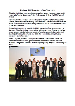 National SME Exporters of the Year 2019!