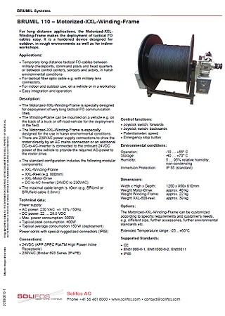 Motorized XXL Winding Frame - BRUMIL 110