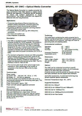 Optical Media Converter - BRUMIL 451 OMC