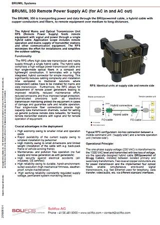 Remote Power Supply AC - BRUMIL 350
