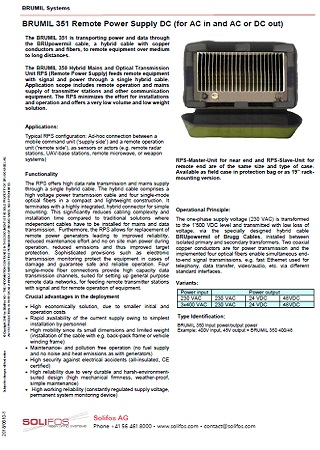 Remote Power Supply DC - BRUMIL 351
