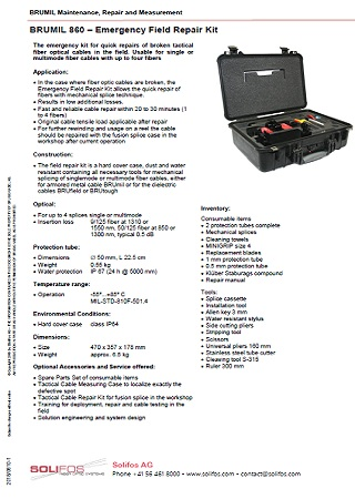 BRUMIL 860 – Emergency Field Repair Kit