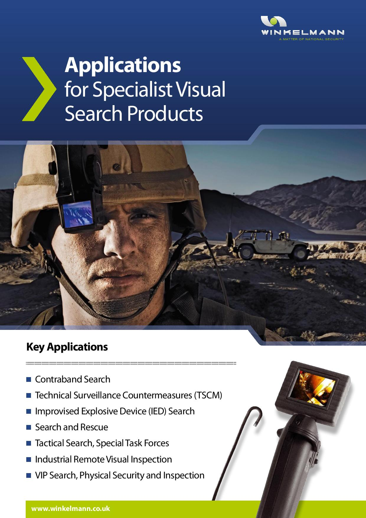 Applications for Specialist Visual Search Products